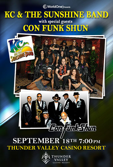 KC & The Sunshine Band with special guests Con Funk Shun